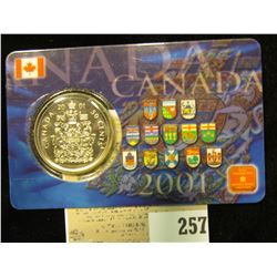 2001 Royal Canadian Mint Fifty Cent Proof in sealed card.
