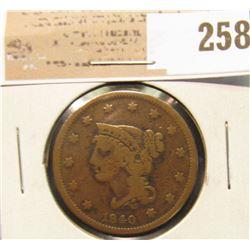1840 U.S. Large Cent, VF.