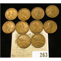 Lot of (10) 1934 P Lincoln Cents.