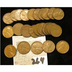 Lot of (25) U.S. Wheat Cents, mostly from the 1940's.