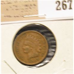 1909 P Indian Head Cent, VF.
