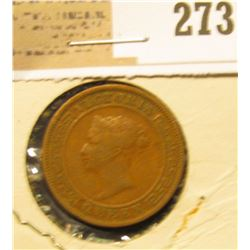 1870 Ceylon One Cent.