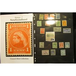 Newfoundland unused Stamp Collection.