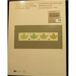 Canada 1980 Souvenir collection.