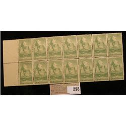 Block of 14 U.S.A. Stamp, Scott #747, 8c Zion, (1934), Mint NH/OG