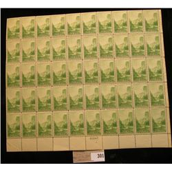 Mint Sheet of Stamps U.S.A., Scott #740, 1c Yosemite, (1934), MNH, (50 stamps).