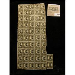 Partial Mint Sheet and a mint pair of Harding 2c USA Stamps, Scott # 612. (total of 52 stamps).