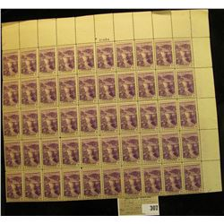 Mint Sheet of Boulder Dam USA 3c Stamps, Scott # 774. (50 stamps).