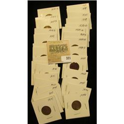 "Group of carded Lincoln Cents, all in 2"" x 2"" holders and ready for retailing. Includes (4) 1939P,(2"