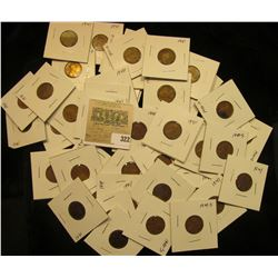 "Group of carded Lincoln Cents, all in 2"" x 2"" holders and ready for retailing. Includes (2) 1940P,(7"