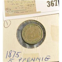 1875A Germany 5 Pfennig.