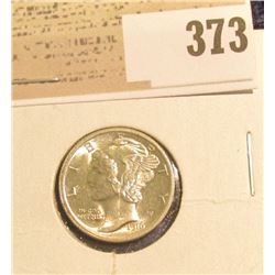 1916 P Mercury Dime, Blazing Beauty with Full Split Bands.