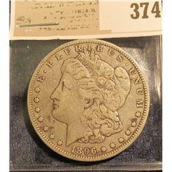 1896 O Morgan Silver Dollar.