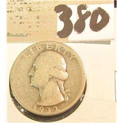 1932 D Washington Quarter, key date.