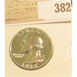 1963 P Proof Silver Washington Quarter.