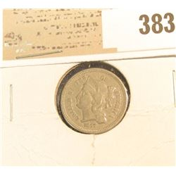 1867 U.S. Three Cent Nickel.