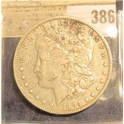 1894 O Morgan Silver Dollar.
