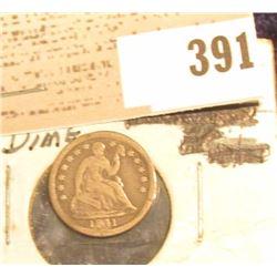 1841 U.S. Seated Liberty Half Dime.
