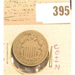 1867 U.S. Shield Nickel.