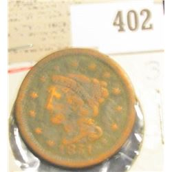1851 U.S. Large Cent.