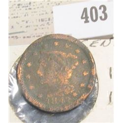 1847 U.S. Large Cent.