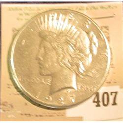 1927 P U.S. Peace Silver Dollar.
