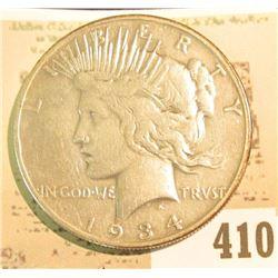 1934 S U.S. Peace Silver Dollar.