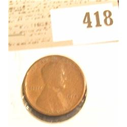 1914 D Lincoln Cent, VG.