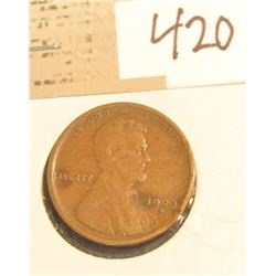 1909 S Lincoln Cent. Key date.
