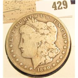 1890 CC U.S. Silver Morgan Dollar.