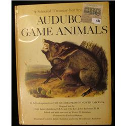 """A Selected Treasury For Sportsmen Audubon Game Animals"", 82 Full color prints from THE QUADRUPEDS O"