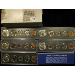 1965P, 66P, 67P, 68D, & 69D American Patriots Coin Sets Cents to Silver Half-Dollars in Snaptight ca