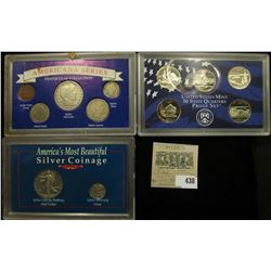 "2005 S State Quarters Proof Set, 5 coins (no box); ""America's Most Beautiful Silver Coinage"" Cased s"
