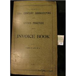"College Currency Collectors ""For Use In 20th Century Bookkeeping and Office Practice Invoice Book Pa"