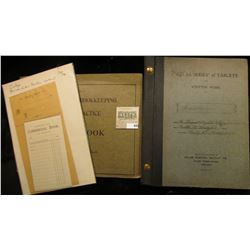 """Statement of Account"" & ""Deposited With Commercial Bank""  Pads,1890 era; ""Atlas Series of Tablets F"