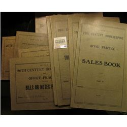 "(9) 1919 era ledgers ""For Use in 20th Century Bookkeeping and Office Practice"", nice addition to the"