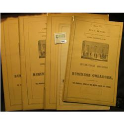 "(7) Banking Sets, Six Column Journal and Jobbing Book, & Small Set Day Book from ""International Asso"