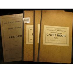 "Pair of Ledgers, Journal, and Cash Book ""For Use In 20th Century Bookkeeping and Office Practice"". P"