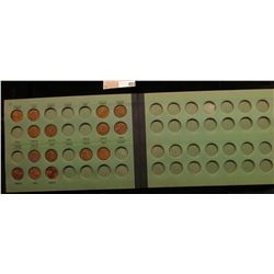 1948-58 Partial Set of Lincoln Cents in a Meghrig Album.