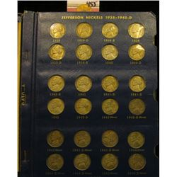 1938-64 Partial Set of Jefferson Nickels in a Deluxe Whitman album. Missing the 1950 D & 55 P Nickel