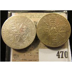 1899 & 1921 Great Britain Silver Florins. Y38 & Y68a.