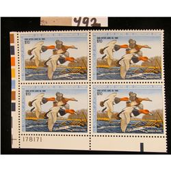 1987 Plateblock of RW54 $10.00 Federal Migratory Waterfowl Stamps, all mint, unsigned. #178171 $40 f