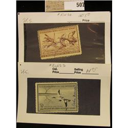 RW # 20 & 23 $2 Federal Migratory Waterfowl Stamps, both signed.