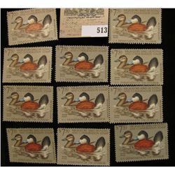 (11) 1981 RW 48 $7.50 Federal Migratory Waterfowl Stamps, all Mint, unsigned with a face value of $8