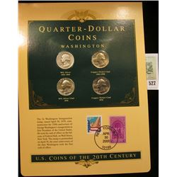 U.S. Coins of the 20th Century Quarter-Dollar Coins Washington, postmarked at New York, N.Y. with li