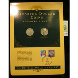 U.S. Coins of the 20th Century Quarter-Dollar Coins Standing Liberty with and without Bare Breast, p