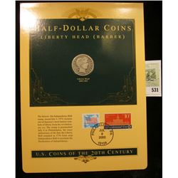 U.S. Coins of the 20th Century Half-Dollar Coin Liberty Head (Barber), postmarked at Washington, D.C