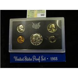 1968 S U.S. Silver Proof Set, Original as issued.