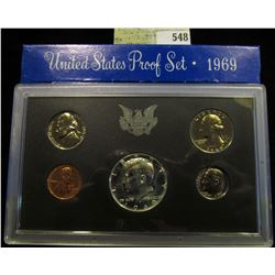 1969 S U.S. Silver Proof Set, Original as issued.