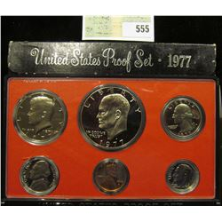 1977 S U.S. Proof Set, Original as issued. A nice attractive set with all coins exhibiting Cameo Fro
